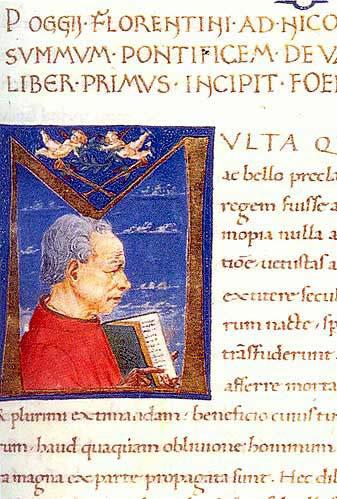Поджо Браччолини, ученый и исследователь классических манускриптов...
